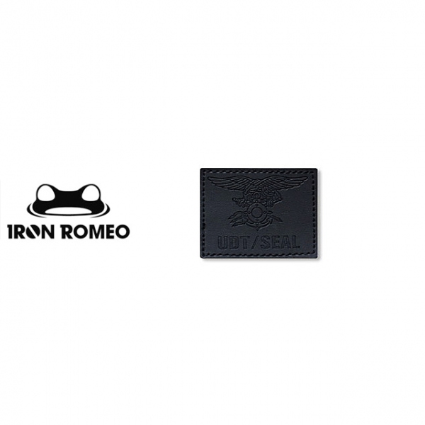[IRON ROMEO] IR100 UDT/SEAL Trident Leather Black 패치