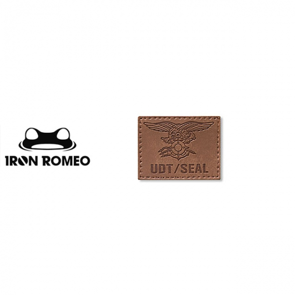 [IRON ROMEO] IR101 UDT/SEAL Trident Leather Tan 패치