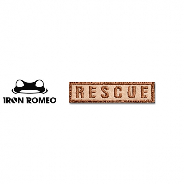 [IRON ROMEO] IR193 RESCUE_타이포_DESERT 패치