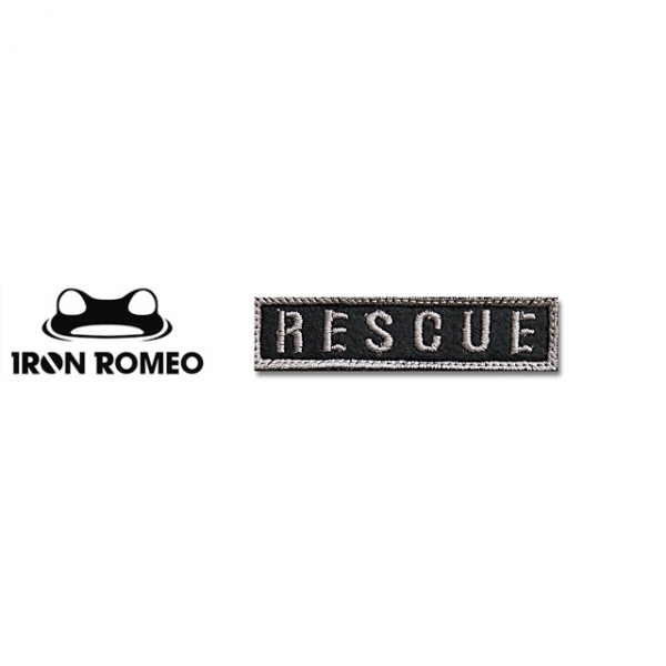 [IRON ROMEO] IR213 RESCUE_타이포_BK 패치