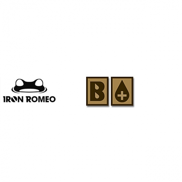 [IRON ROMEO] IR248 혈액형 RH+B (Tan, PVC)_Blood Type PVC Patch_TAN 패치