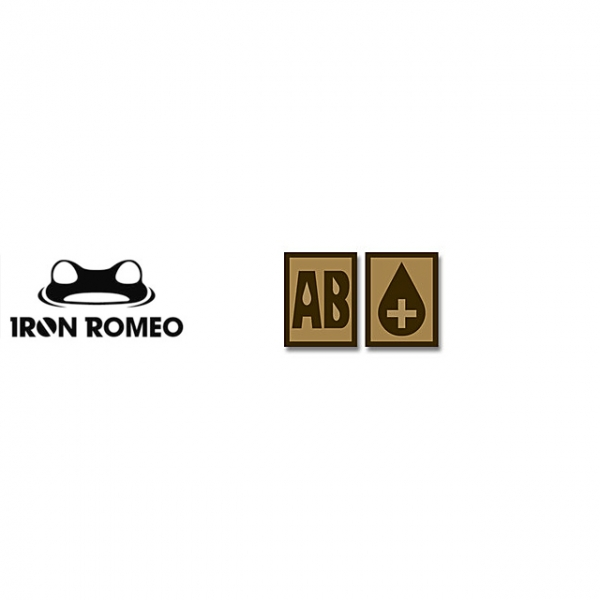 [IRON ROMEO] IR249 혈액형 RH+AB (Tan, PVC)_Blood Type PVC Patch_TAN 패치