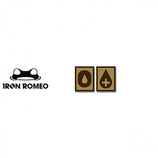 [IRON ROMEO] IR250 혈액형 RH+O (Tan, PVC)_Blood Type PVC Patch_TAN 패치