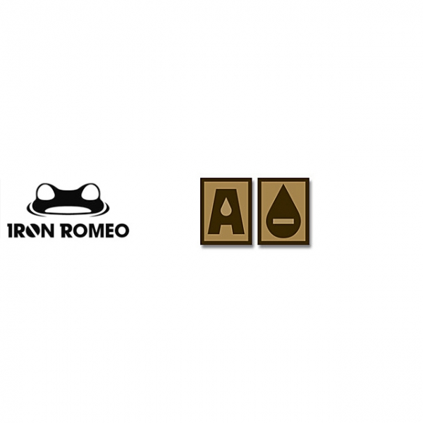 [IRON ROMEO] IR251 혈액형 RH-A (Tan, PVC)_Blood Type PVC Patch_TAN 패치