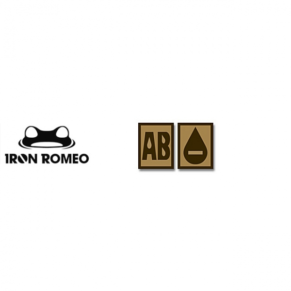 [IRON ROMEO] IR253 혈액형 RH-AB (Tan, PVC)_Blood Type PVC Patch_TAN 패치