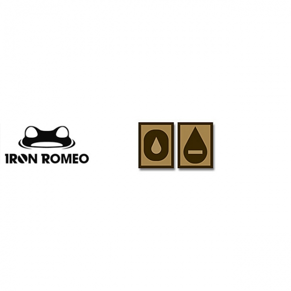 [IRON ROMEO] IR254 혈액형 RH-O (Tan, PVC)_Blood Type PVC Patch_TAN 패치
