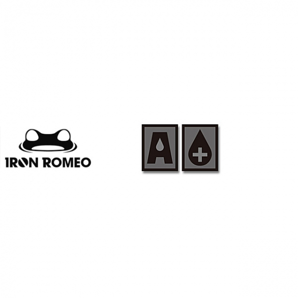 [IRON ROMEO] IR255 혈액형 RH+A (SWAT, PVC)_Blood Type PVC Patch_SWAT 패치