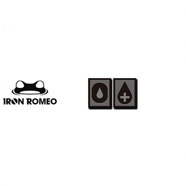 [IRON ROMEO] IR258 혈액형 RH+O (SWAT, PVC)_Blood Type PVC Patch_SWAT 패치