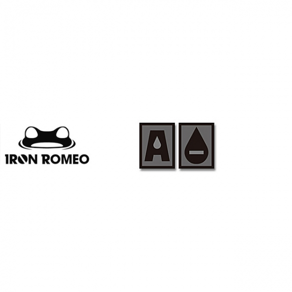 [IRON ROMEO] IR259 혈액형 RH-A (SWAT, PVC)_Blood Type PVC Patch_SWAT 패치