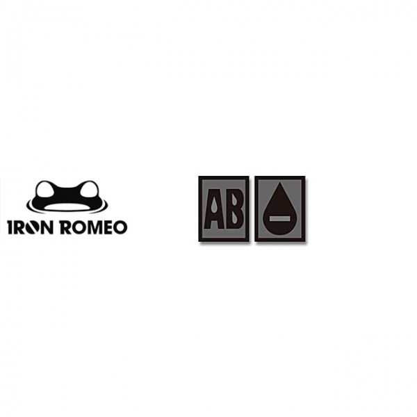 [IRON ROMEO] IR261 혈액형 RH-AB (SWAT, PVC)_Blood Type PVC Patch_SWAT 패치