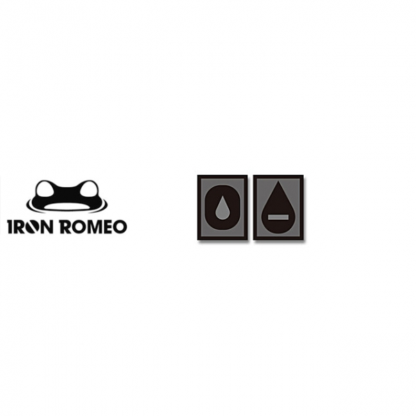 [IRON ROMEO] IR262 혈액형 RH-O (SWAT, PVC)_Blood Type PVC Patch_SWAT 패치