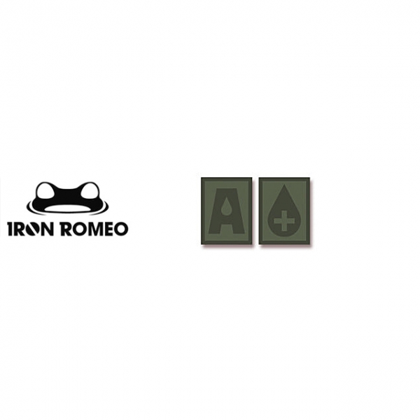 [IRON ROMEO] IR302 혈액형 RH+A (OD, PVC)_Blood Type PVC Patch_OD 패치