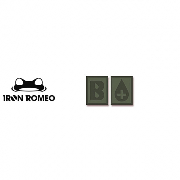 [IRON ROMEO] IR303 혈액형 RH+B (OD, PVC)_Blood Type PVC Patch_OD 패치