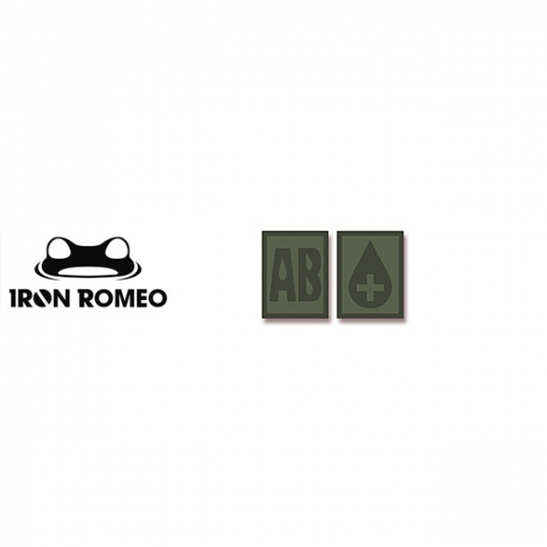 [IRON ROMEO] IR304 혈액형 RH+AB (OD, PVC)_Blood Type PVC Patch_OD 패치