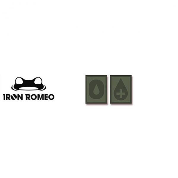 [IRON ROMEO] IR305 혈액형 RH+O (OD, PVC)_Blood Type PVC Patch_OD 패치