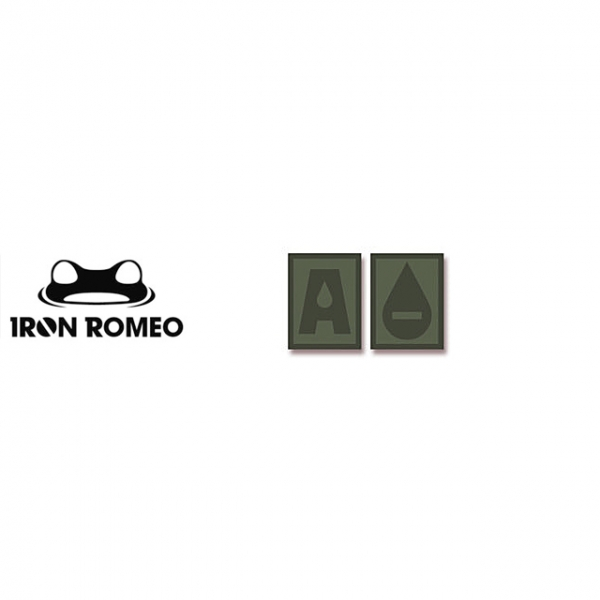 [IRON ROMEO] IR306 혈액형 RH-A (OD, PVC)_Blood Type PVC Patch_OD 패치