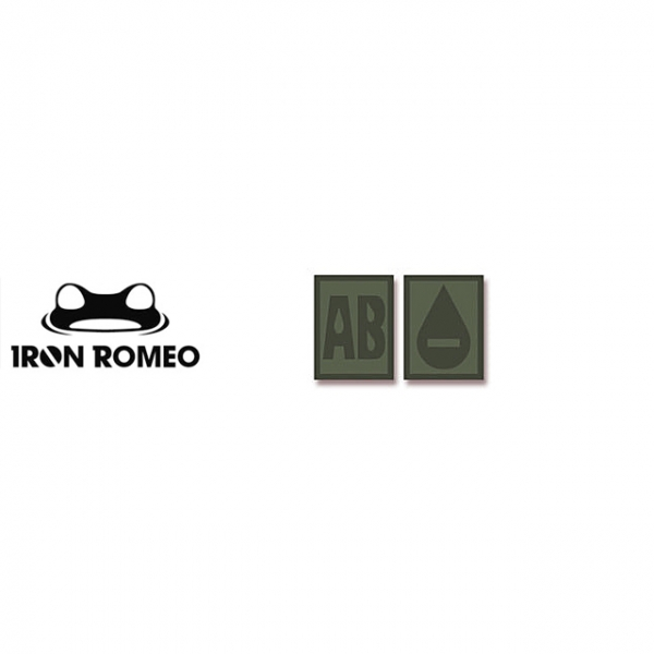 [IRON ROMEO] IR308 혈액형 RH-AB (OD, PVC)_Blood Type PVC Patch_OD 패치