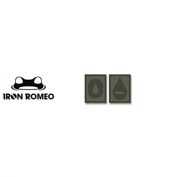 [IRON ROMEO] IR309 혈액형 RH-O (OD, PVC)_Blood Type PVC Patch_OD 패치