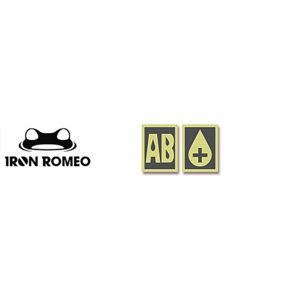 [IRON ROMEO] IR312 혈액형 RH+AB (축광, PVC)_Blood Type PVC Patch_축광 패치