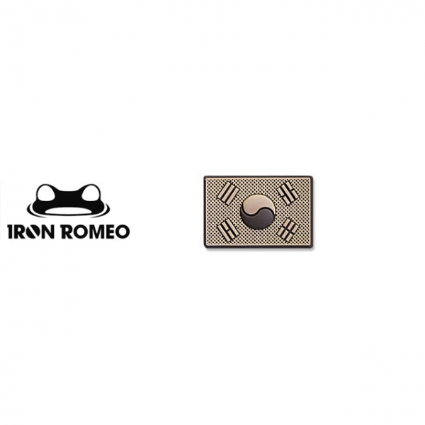 [IRON ROMEO] IR433 태극기미니PVC_DESERT_Korea Flag Mini PVC Patch 패치