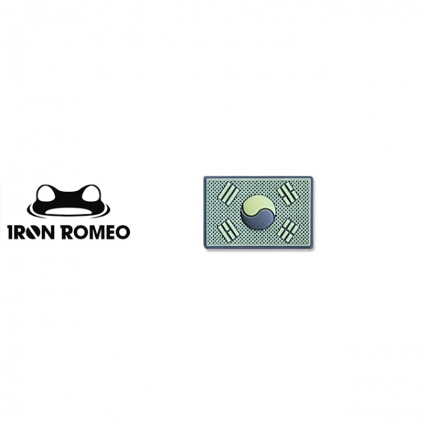 [IRON ROMEO] IR434 태극기미니PVC_축광_GLOW_Korea Flag Mini PVC Patch 패치