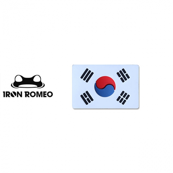 [IRON ROMEO] IR440 태극기스몰 PVC_WHITE_Korea Flag Small PVC Patch 패치