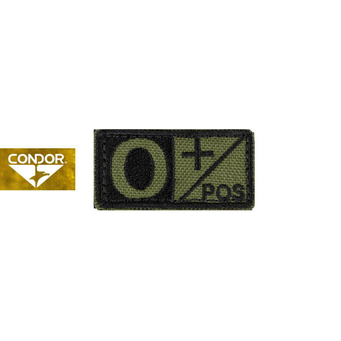 [Condor] 229 BLOOD TYPE PATCH 콘도르 블러드 패치 O+_OLIVE DRAB