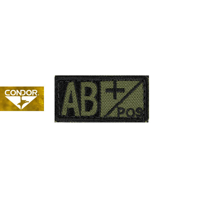 [Condor] 229 BLOOD TYPE PATCH 콘도르 블러드 패치 AB+_OLIVE DRAB