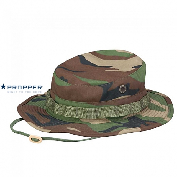 [Propper] Boonie Sun Hat 40% Nylon 60% Cotton 프로퍼 립스탑 부니햇_Woodland