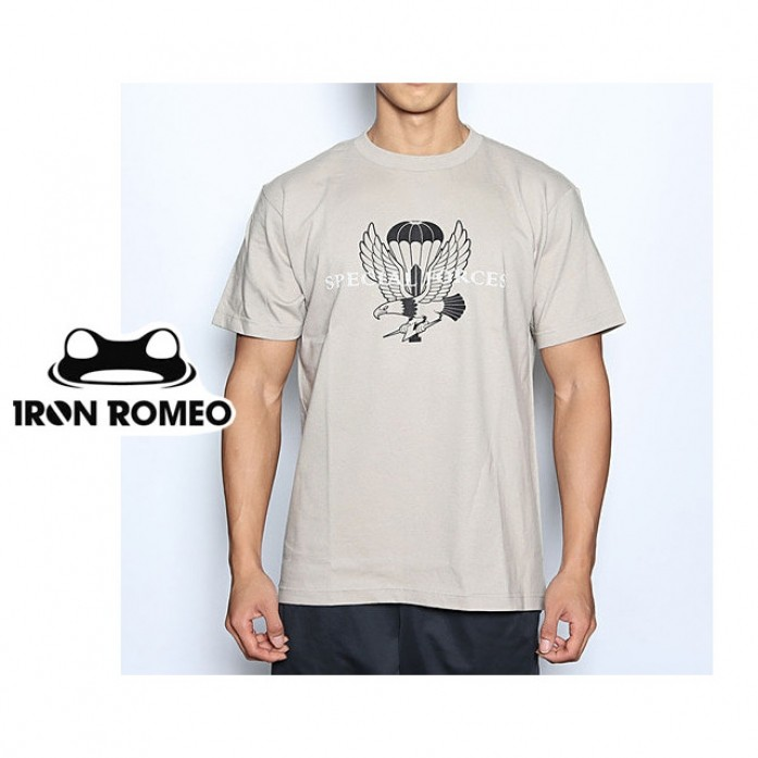 [IRON ROMEO] 특전사 티셔츠_SPECIAL FORCES T-shirt_Silver Tan