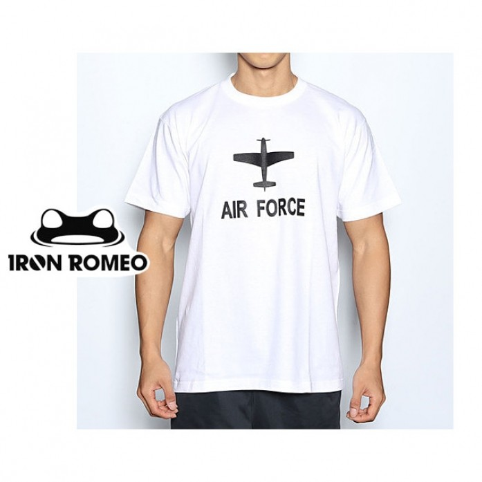 [IRON ROMEO] 에어포스 티셔츠_AIR FORCE T-shIrt_White