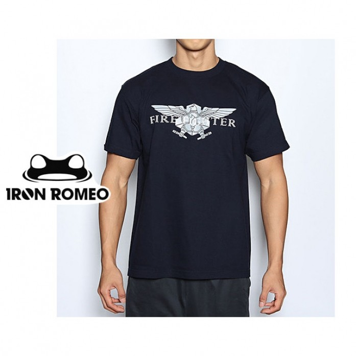 [IRON ROMEO] 소방관로고 티셔츠_FIRE FIGHTER T-shIrt_Navy