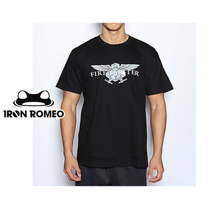 [IRON ROMEO] 소방관로고 티셔츠_FIRE FIGHTER T-shIrt_Black