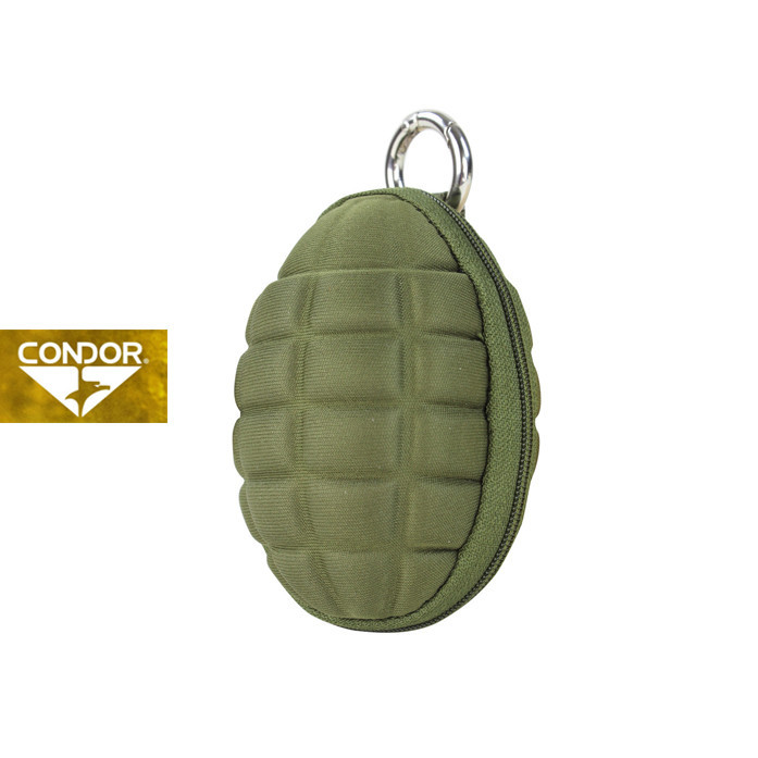 [Condor] 221043 GRENADE KEY CHAIN POUCH 콘도르 슈류탄  모양 파우치_OLIVE DRAB