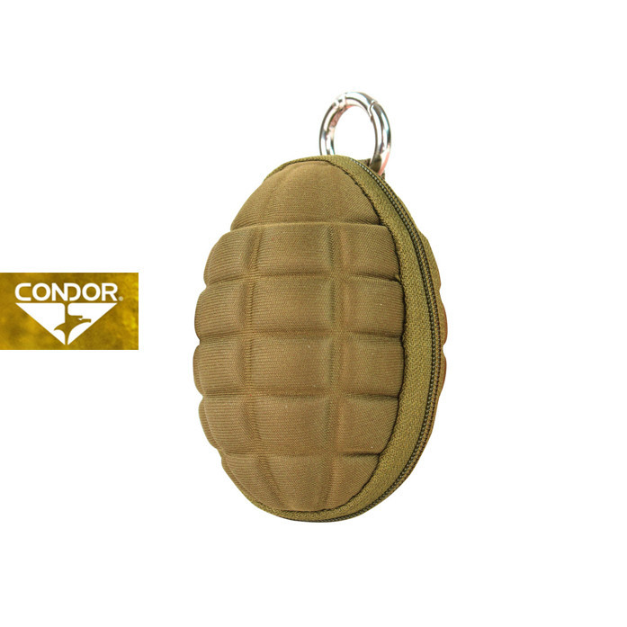 [Condor] 221043 GRENADE KEY CHAIN POUCH 콘도르 슈류탄  모양 파우치_COYOTE BROWN
