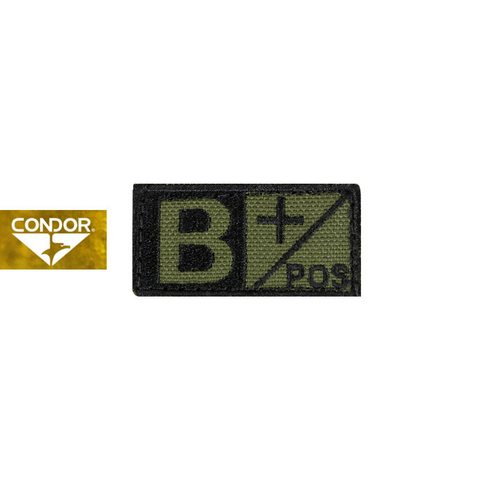 [Condor] 229 BLOOD TYPE PATCH 콘도르 블러드 패치 B+_OLIVE DRAB